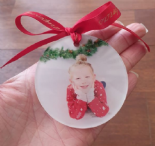 Custom Printed Keepsake Baubles Christmas Gift